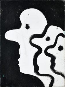 Peter Bosshart, Kollegen, 2011, Öl/Lw, 40 x 30 cm