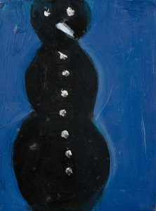 Peter Bosshart, Schwarzer Schnee, 2009, Öl/Lw, 24 x 18 cm