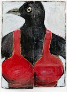 Peter Bosshart, Die kenn ich doch, 1999, Öl/Lw, 20 x 90 cm