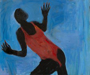 Peter Bosshart, Emma am Meer, 2012, Öl/Lw, 120 x 145 cm