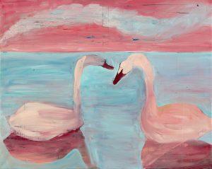 Peter Bosshart, Glück, 2012, Öl/Lw, 120 x 150 cm
