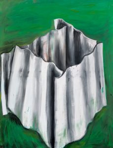 Peter Bosshart, In Zerillos Garten, 2012, Öl/Lw, 90 x 145 cm