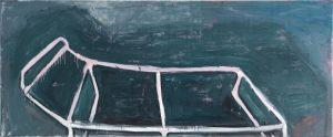 Peter Bosshart, Liege, 2018, Öl/Lw, 90 x 220 cm