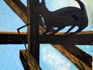 Peter Bosshart, Im Gebälk, 2009, Öl/Lw, 160 x 190 cm