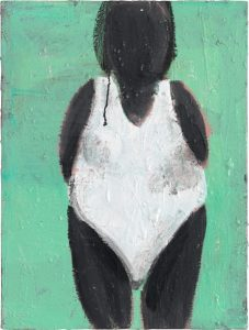 Peter Bosshart, Sonnenbad, 2018, Öl/Lw, 80 x 60 cm