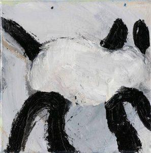 Peter Bosshart, Gump, 2020, Öl/Lw, 20 x 20 cm