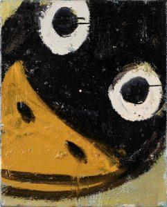 Peter Bosshart, Glücksrabe, 2020, Öl/Lw, 50 x 40 cm