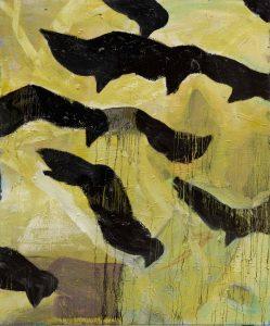 Peter Bosshart, Hirngespinste, 2020, Öl/Lw, 145 x 120 cm