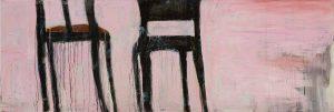Peter Bosshart, Im Morgenrot, 2019, Öl/Lw, 85 x 250 cm