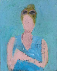Peter Bosshart, La Turquoise, 2016, Öl/Lw, 30 x 24 cm
