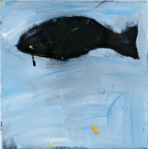 Peter Bosshart, Schwarze Flosse, 2015, Öl/Lw, 0 x 40 cm
