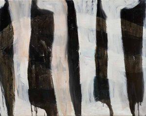 Peter Bosshart, Unter Beinen, 2020, Öl/Lw, 115 x 145 cm