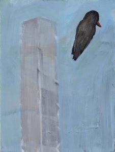 Peter Bosshart, Vogel im Nebel, 2015, Öl/Lw, 80 x 60 cm